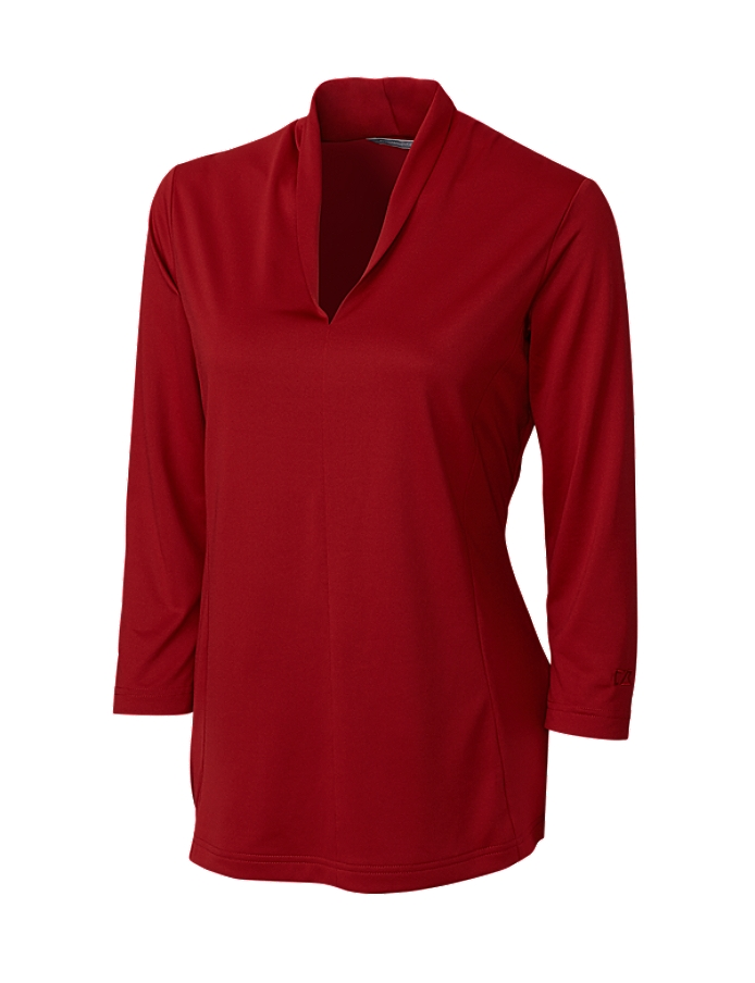 CUTTER & BUCK LCK02510 - Ladies' CB DryTec Three Quarters Sleeve Kavanagh V-neck