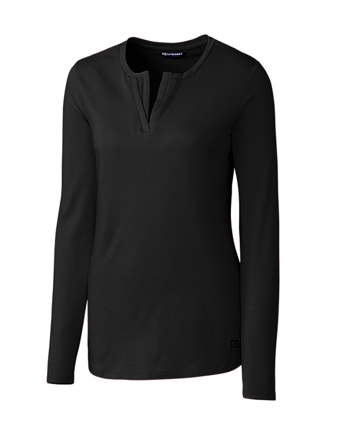CUTTER & BUCK LCK08720 - Ladies' L/S Avail Double V-Neck