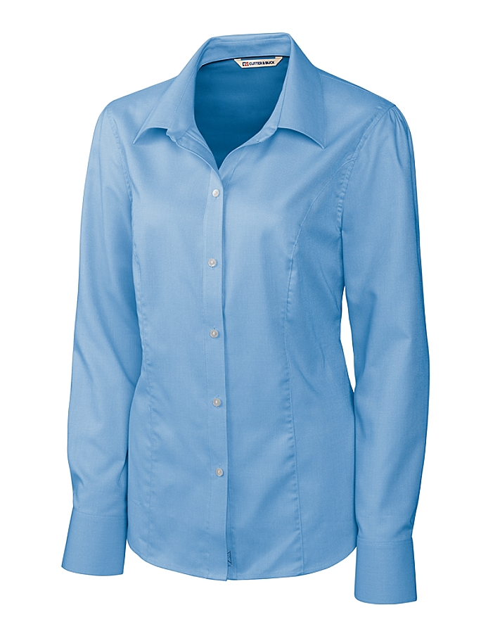 CUTTER & BUCK LCW04124 - Ladies' L/S Epic Easy Care Nailshead