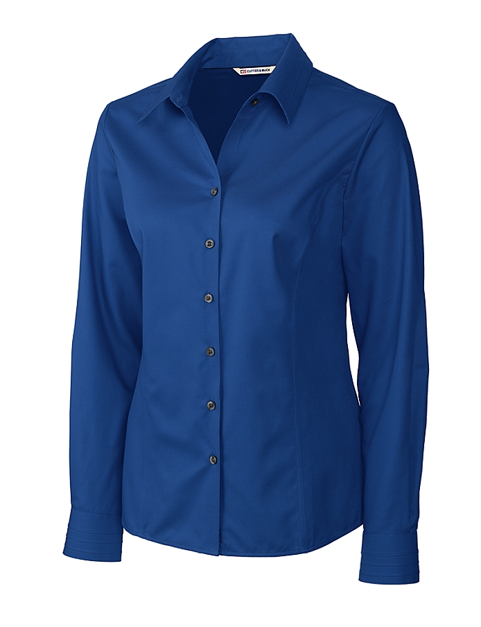 CUTTER & BUCK LCW08394 - Ladies' L/S Epic Easy Care Fine Twill