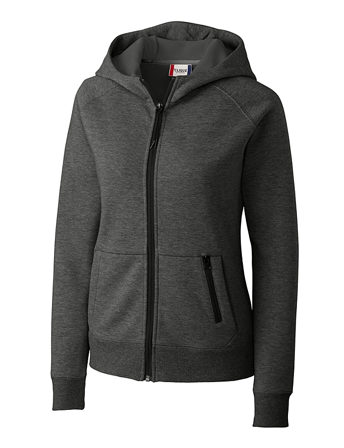 CUTTER & BUCK LQK00039 - Clique Ladies' Lund Fleece Zip Hoodie