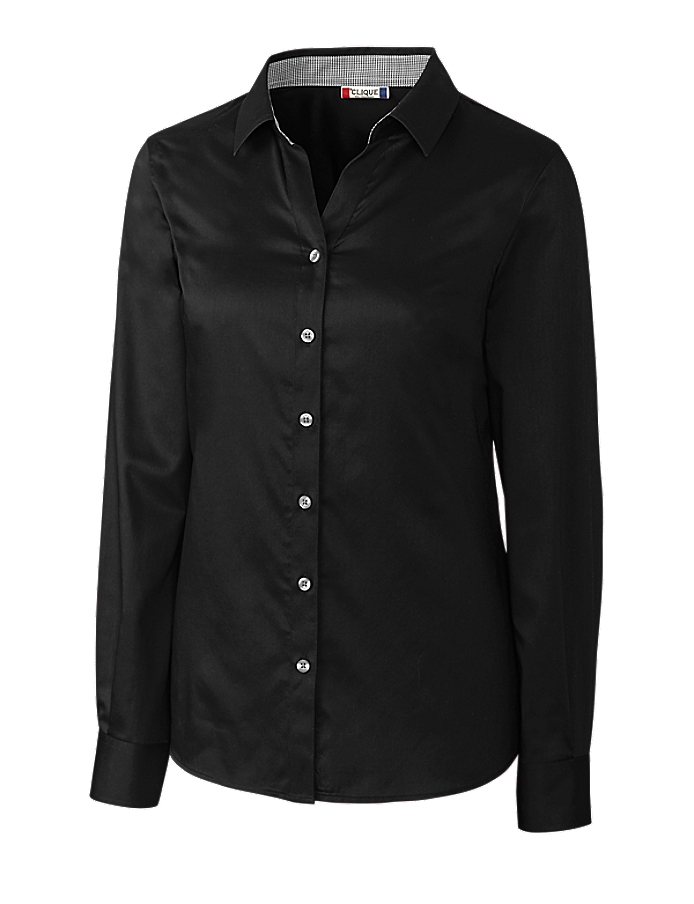 Clique LQW00010 -  Ladies' L/S Bergen Stain Resistant Twill