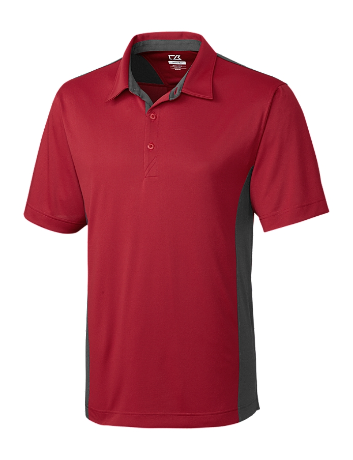 CUTTER & BUCK MCK00988 - Men's CB DryTec Willows Colorblock Polo