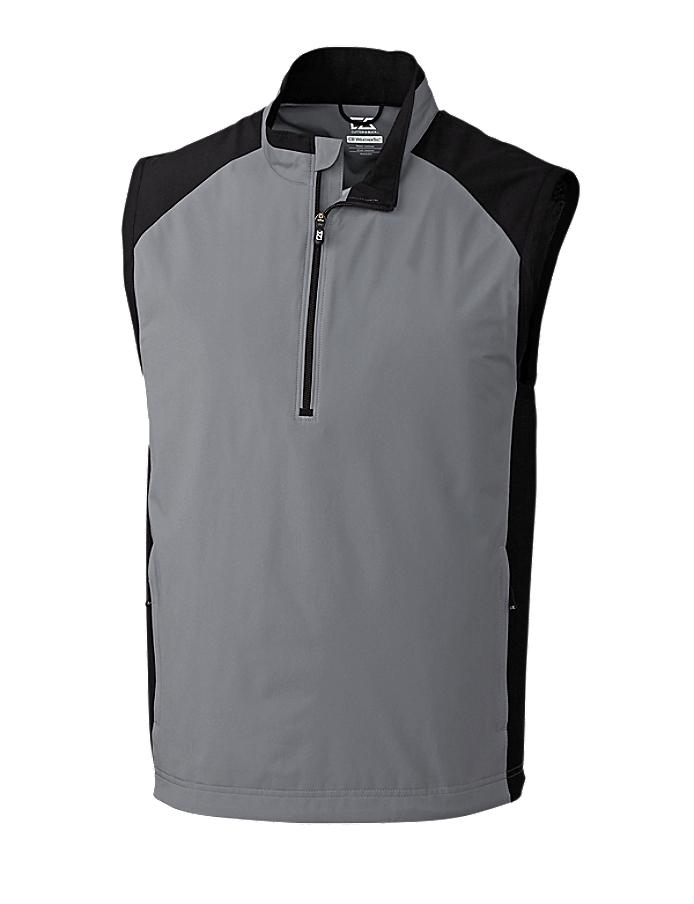 CUTTER & BUCK MCO09829 - Men's CB WeatherTec Summit Half Zip Vest