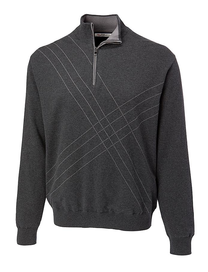 CUTTER & BUCK MCS01850 - Men's Peak Half Zip Wind Sweater