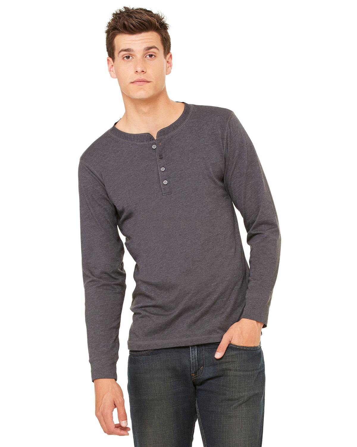 Canvas 3150 - Long Sleeve Henley