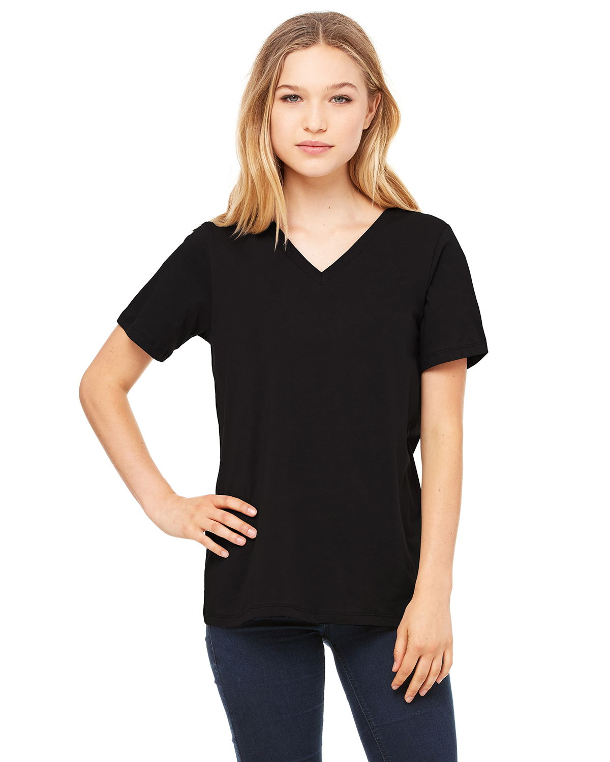 Canvas 6405 - Missy Jersey Short-Sleeve V-Neck Tee