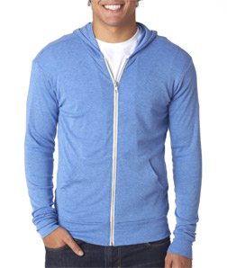 Canvas C3939 - Unisex TriBlend Full-Zip Lightweight Hoodie