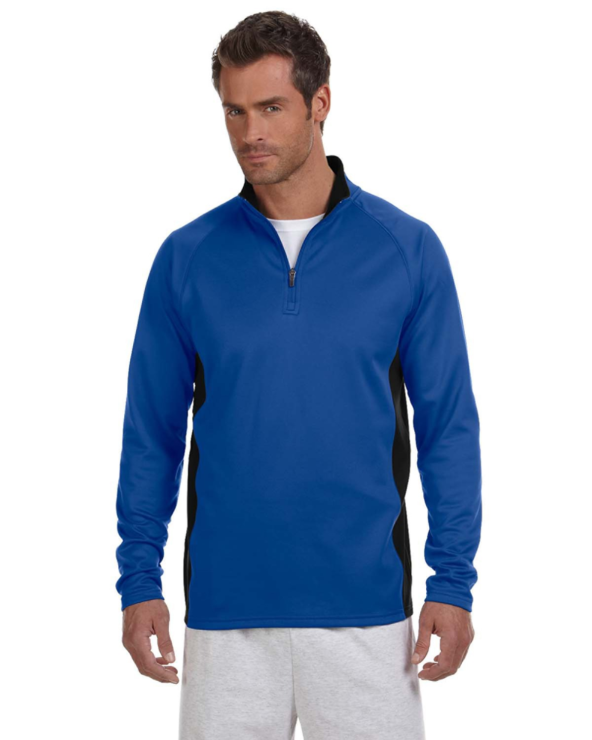 Champion S230 - Colorblocked Performance Quarter-Zip Pullover Sweatshirt