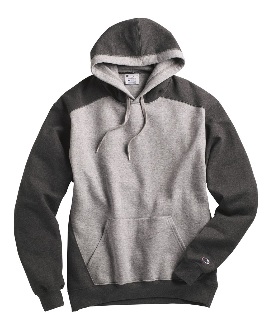 Champion S750 - Double Dry Eco Colorblocked Hooded Sweatshirt