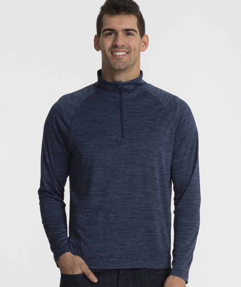 Charles River 9763 - Men's Space Dye Performance Pullover