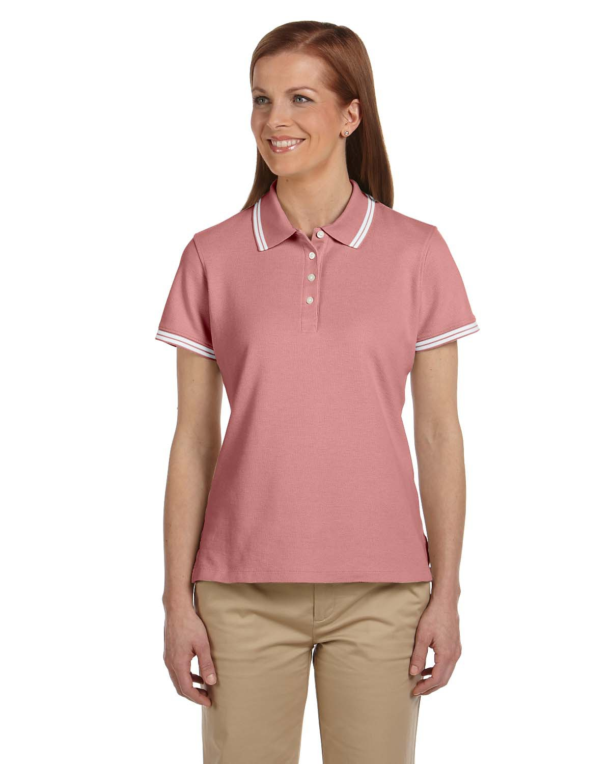Chestnut Hill CH113W  Women's Tipped Performance Plus Pique Polo