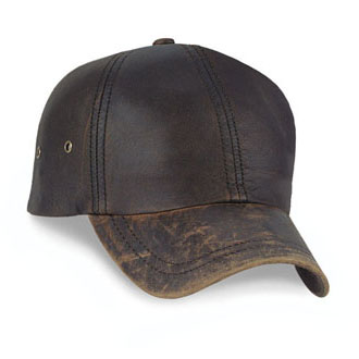 Cobra PWL-R - 6 Panel Washed Leather Relaxed Cap