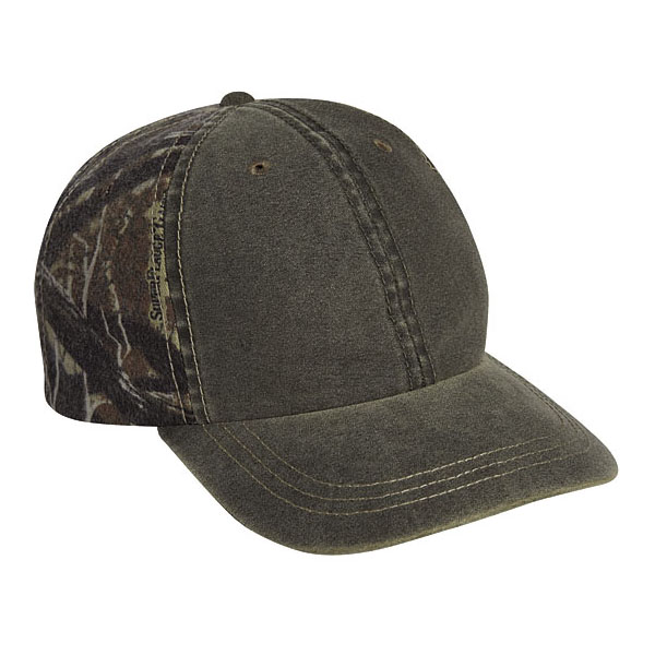 Cobra WSG-C - 6 Panel Weather-Washed Cap with Superflauge Camo Bk