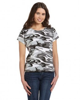 Code V 3665  Women's Fine Jersey Camouflage T-Shirt