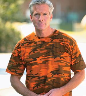 Code V 3986 Camouflage Overdyed T-Shirt