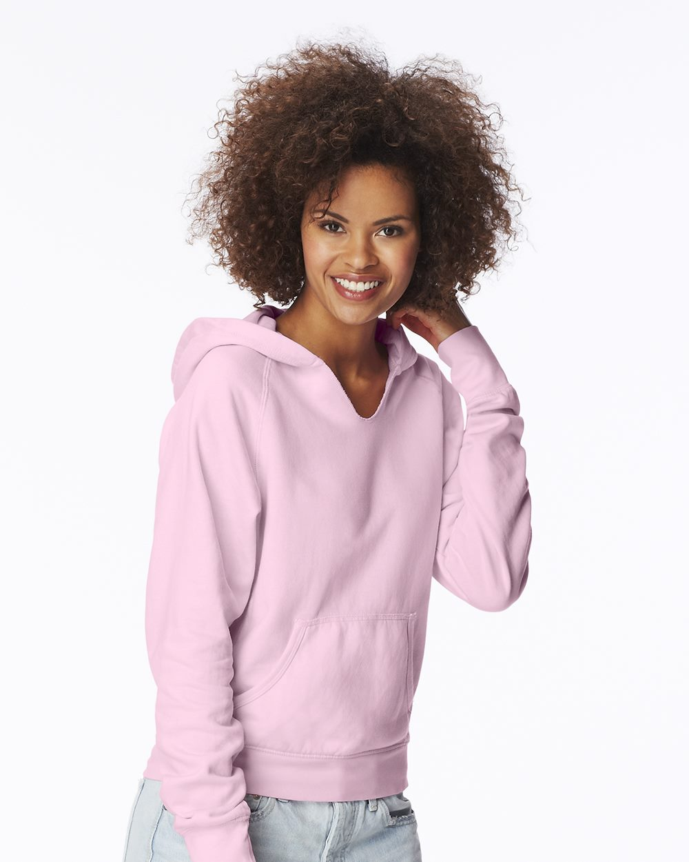 Comfort Colors 1595 Pigment-Dyed Ladies' Frayed Hooded Pullover