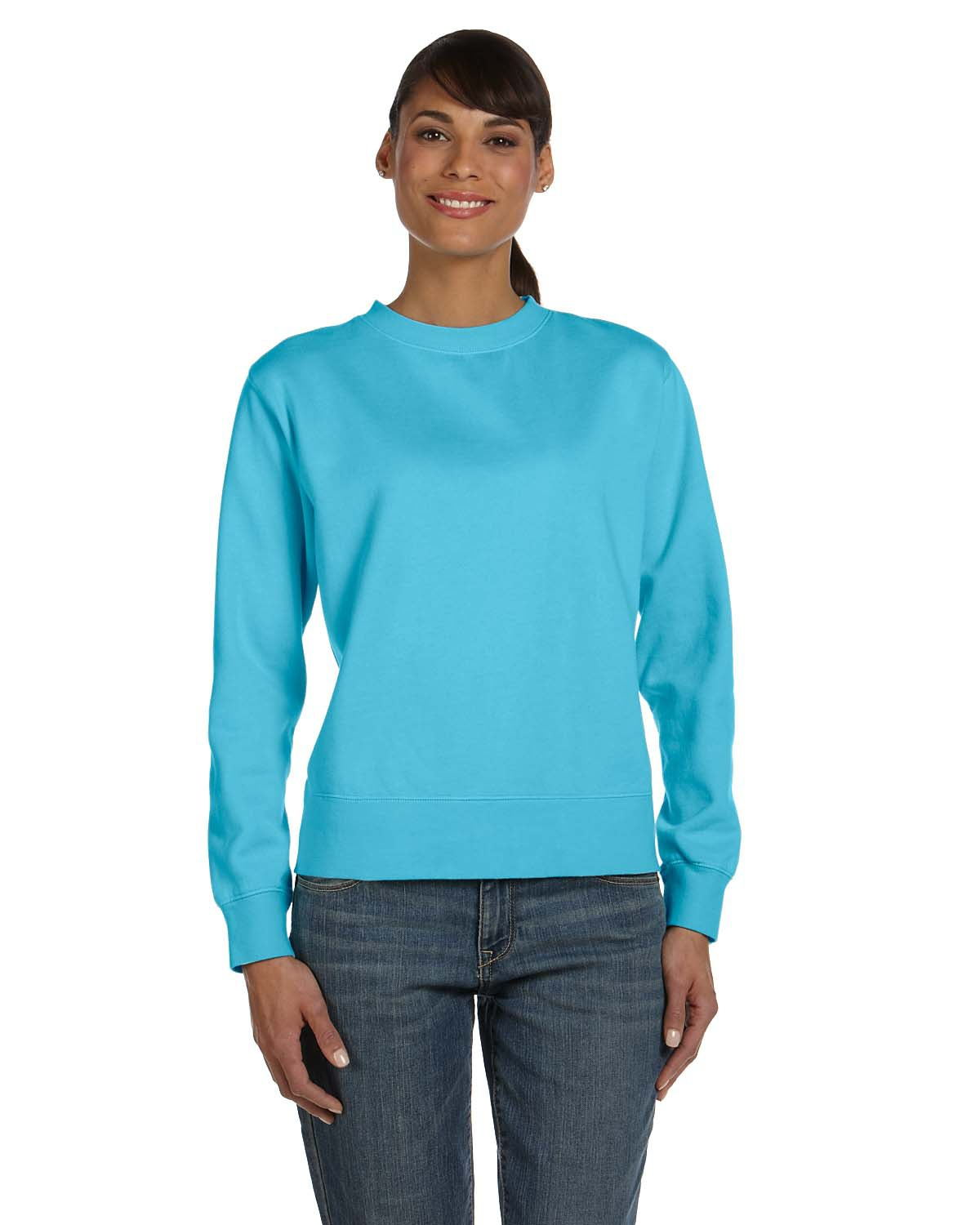 Comfort Colors C1596  Women's Garment-Dyed Wide-Band Crew Neck Fleece