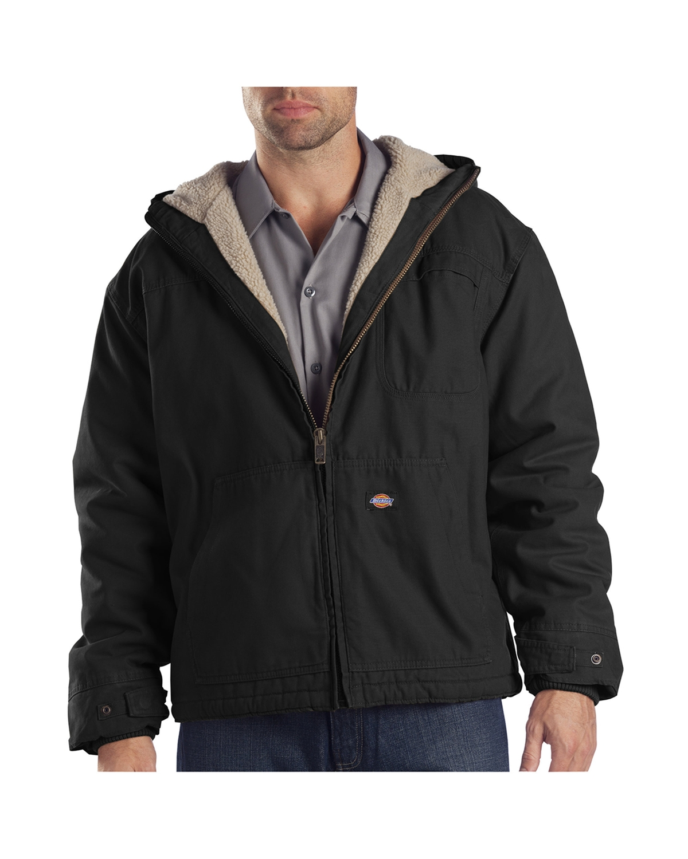 Dickies TJ350 - Adult Sanded Duck Sherpa-Lined Hooded Jacket