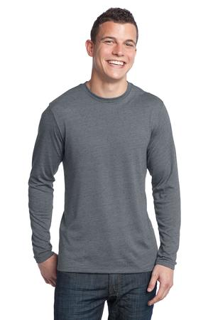 District® DT171 Young Mens Textured Long Sleeve Tee