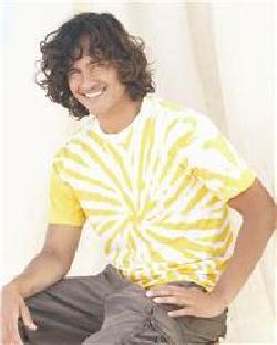 Dyenomite 200PW Contrast Color Pinwheel  T-Shirt