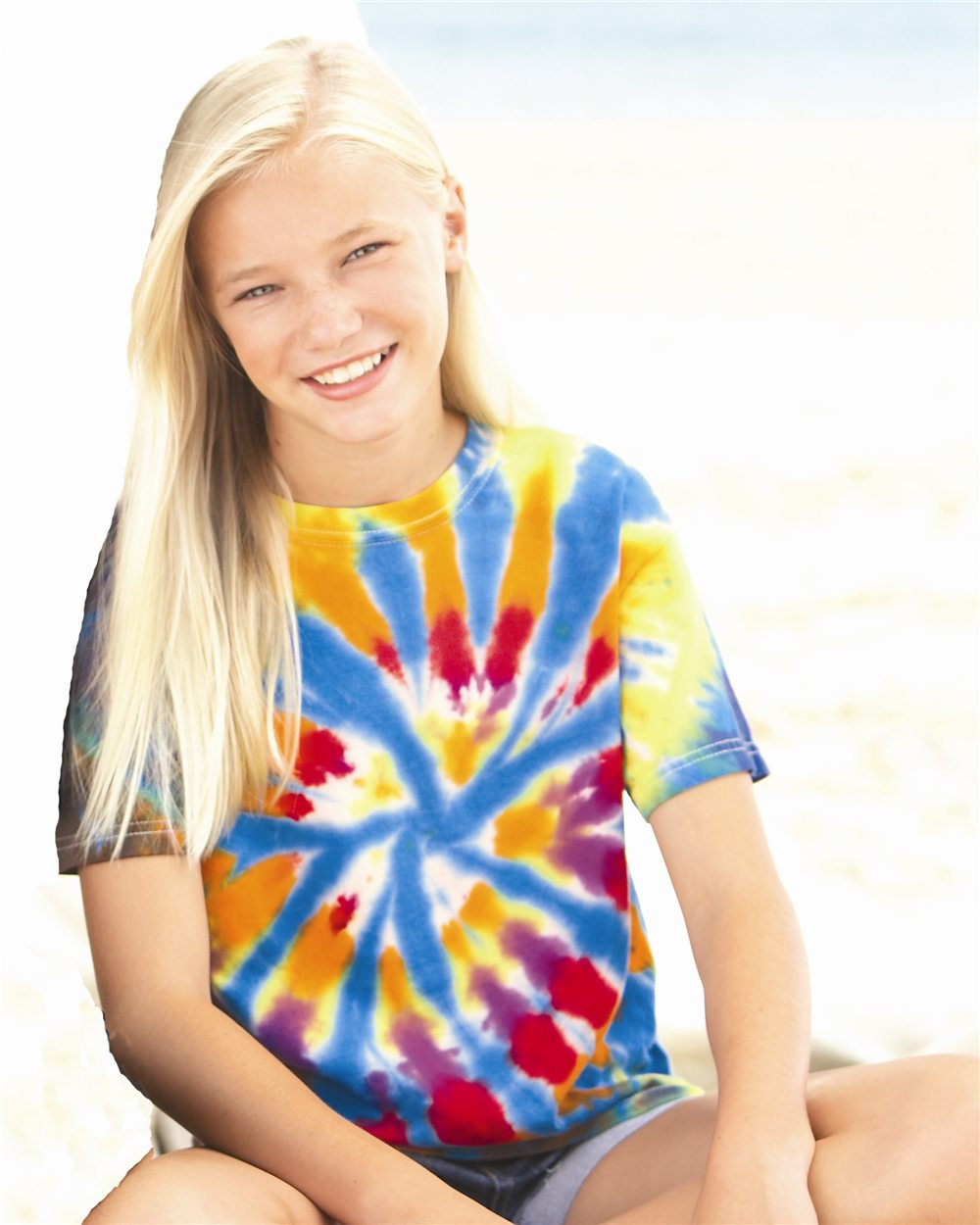 Dyenomite 20BTD Youth Rainbow Cut-Spiral T-Shirt