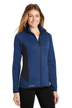 Eddie Bauer® EB239-Ladies Full-Zip Heather Stretch Fleece Jacket