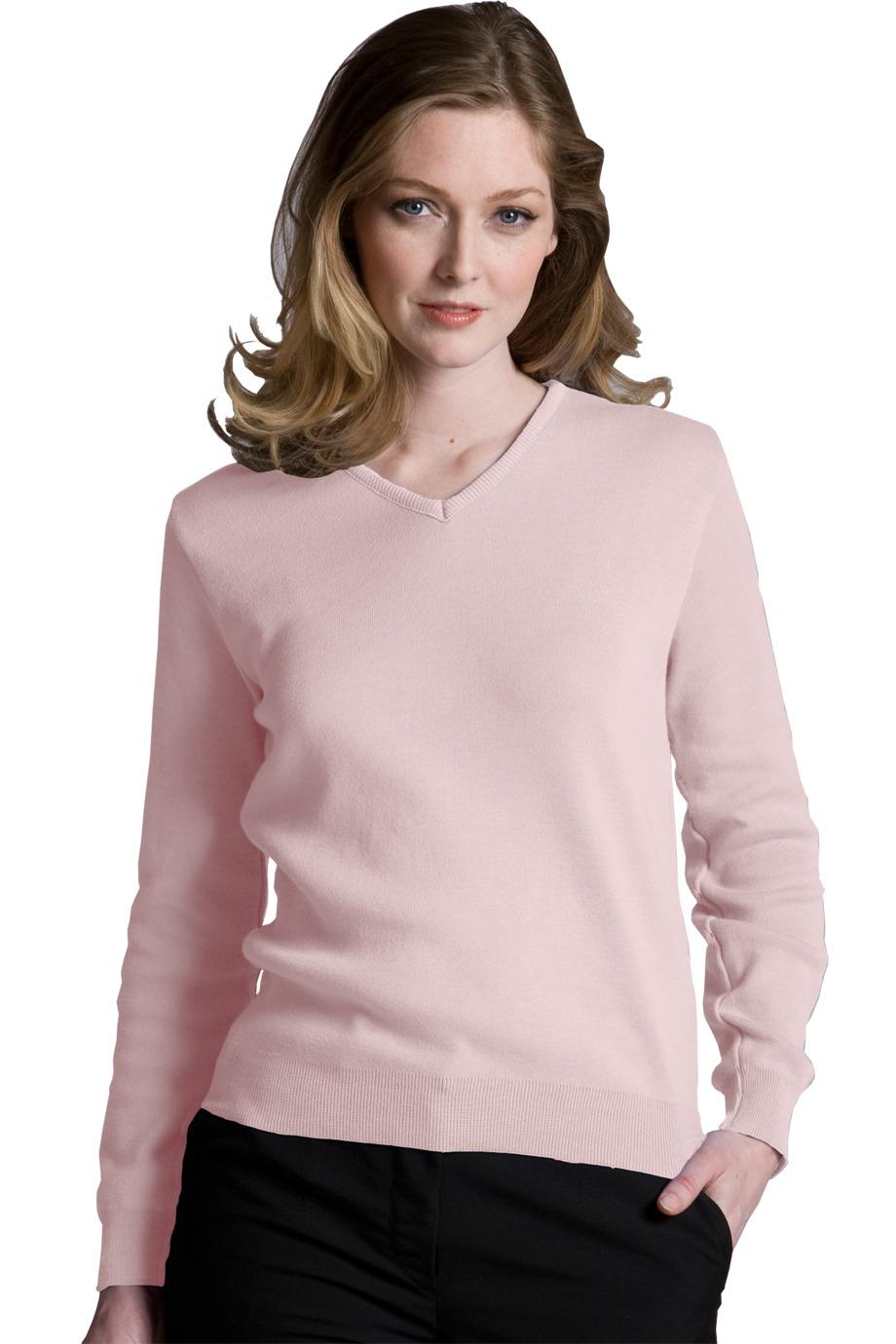 Edwards Garment 090 - Women's Cotton Cashmere V-Neck ...