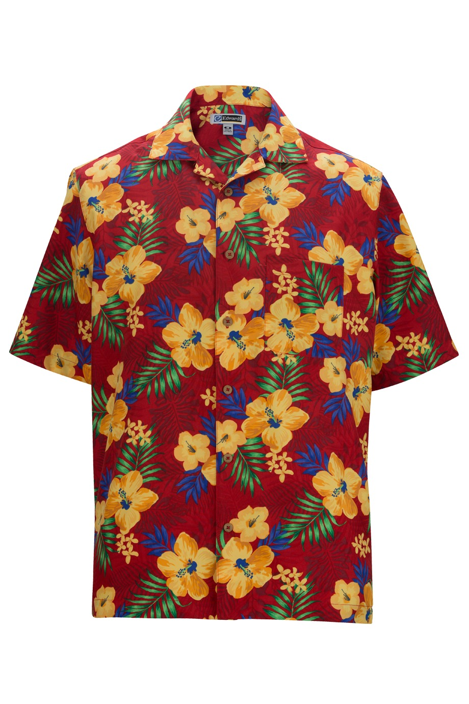 Edwards Garment 1035 - Tropical Hibiscus Camp Shirt