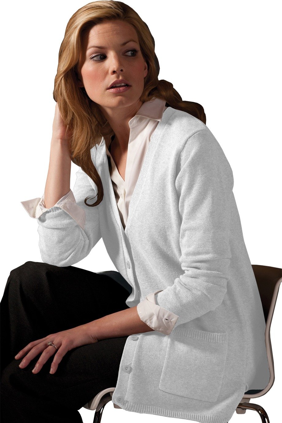 Edwards Garment 119 - Women's V-Neck Long Cardigan