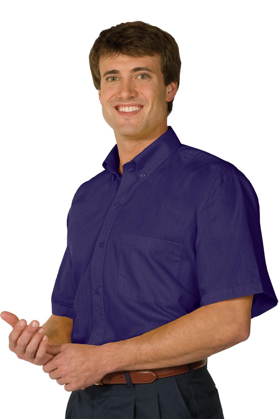 Edwards Garment 1245 - Men's Short Sleeve Soft Touch Polin Shirt