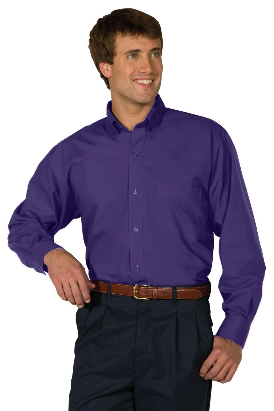 Edwards Garment 1295 - Men's Long Sleeve Soft Touch Poplin Shirt