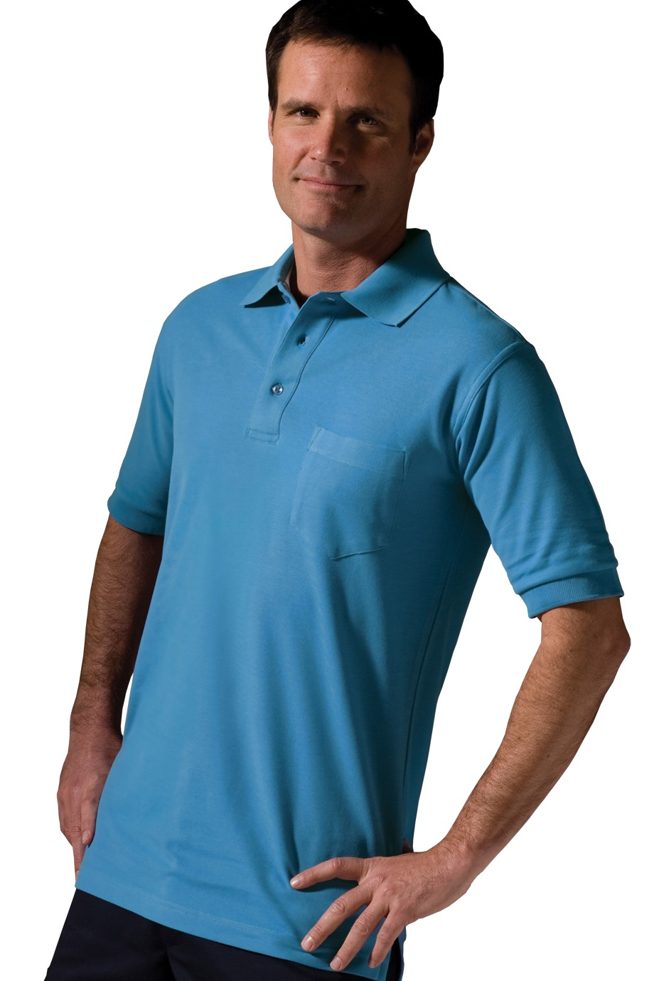 Edwards Garment 1505 - Soft Touch Short Sleeve Pique Polo With Pocket