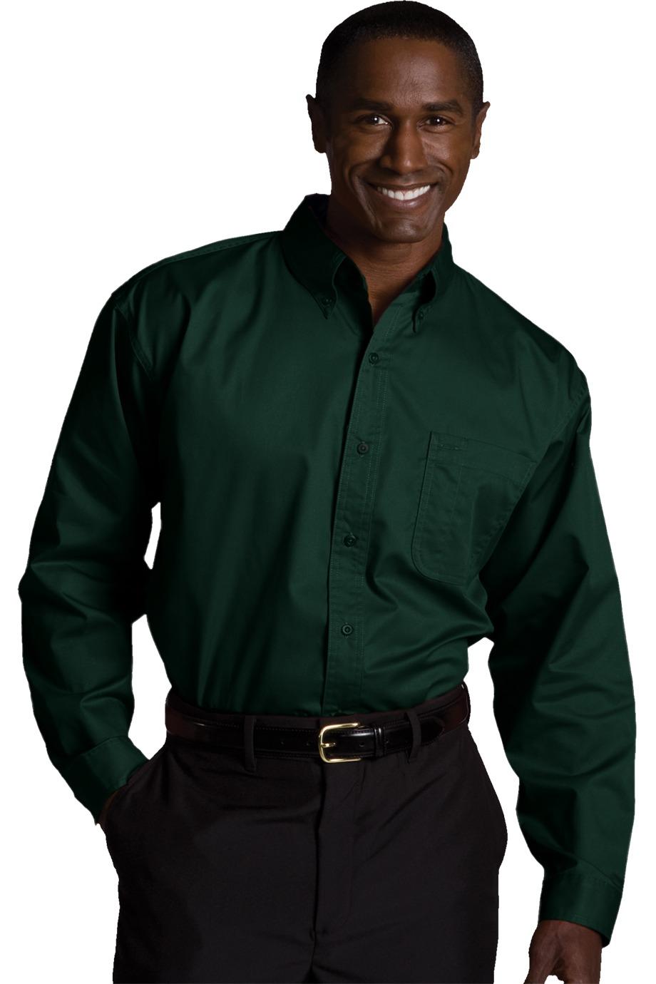 Edwards Garment 1750 - Men's Cottonplus Long Sleeve Twill Shirt