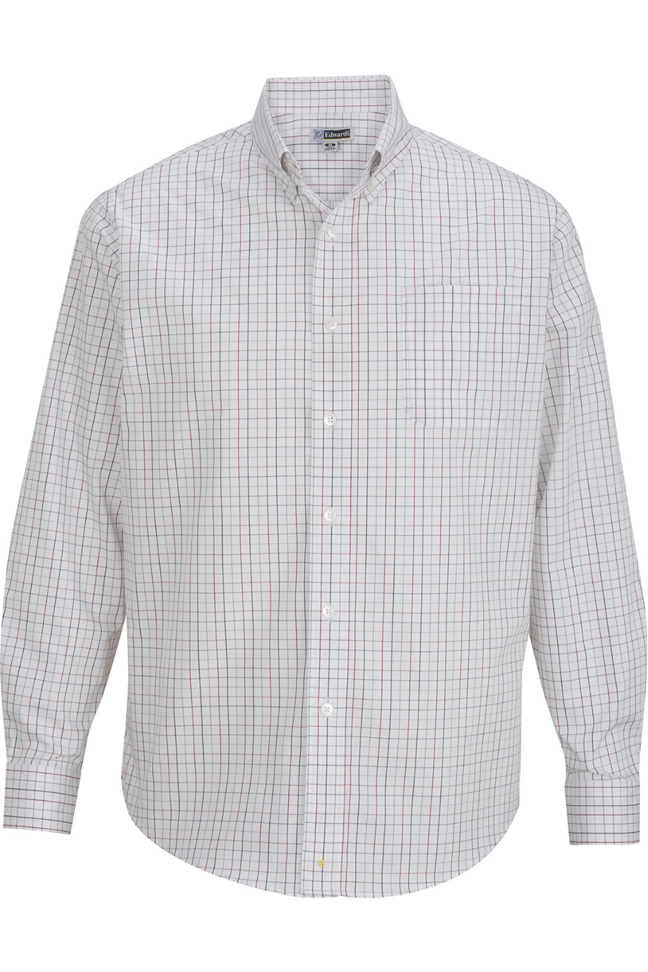 Edwards Garment 1973 - Men's Tattersall Poplin Shirt