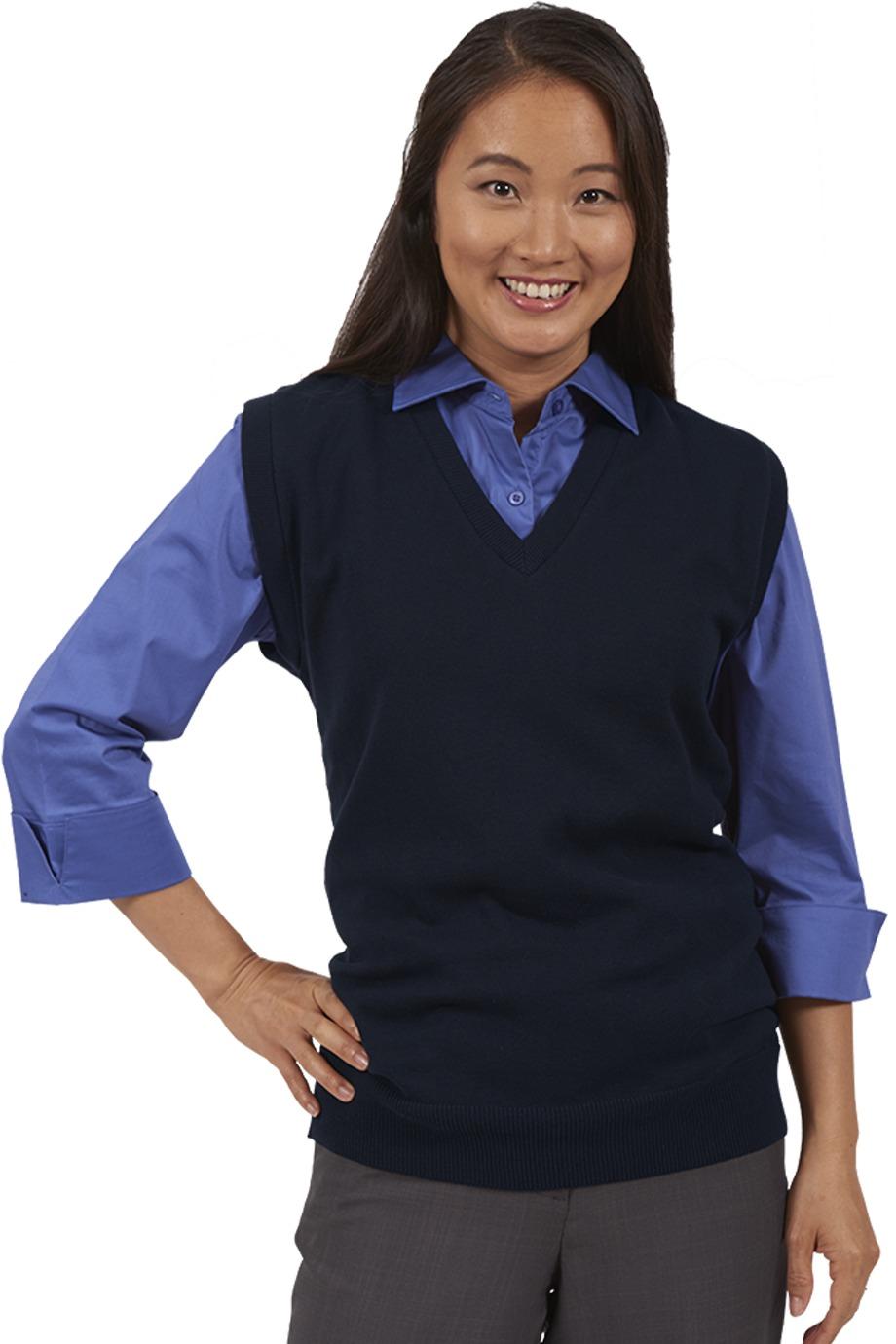 Edwards Garment 4092 - Fine Gauge V neck Sweater