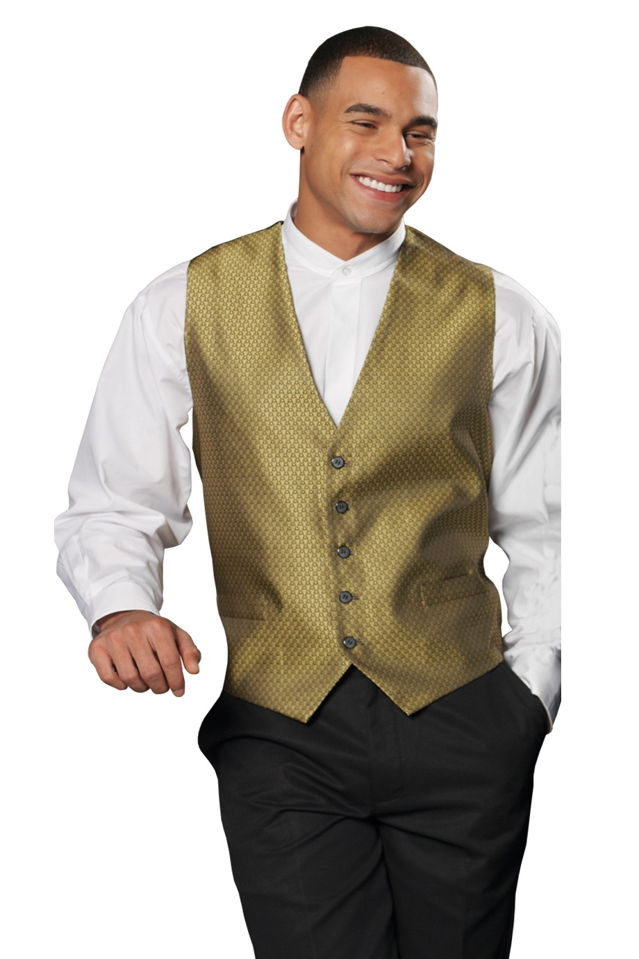 Edwards Garment 4390 - Men's Diamond Brocade Vest