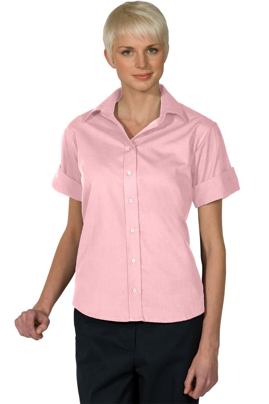 Edwards Garment 5245 - Women's Open Neck Poplin Short ...