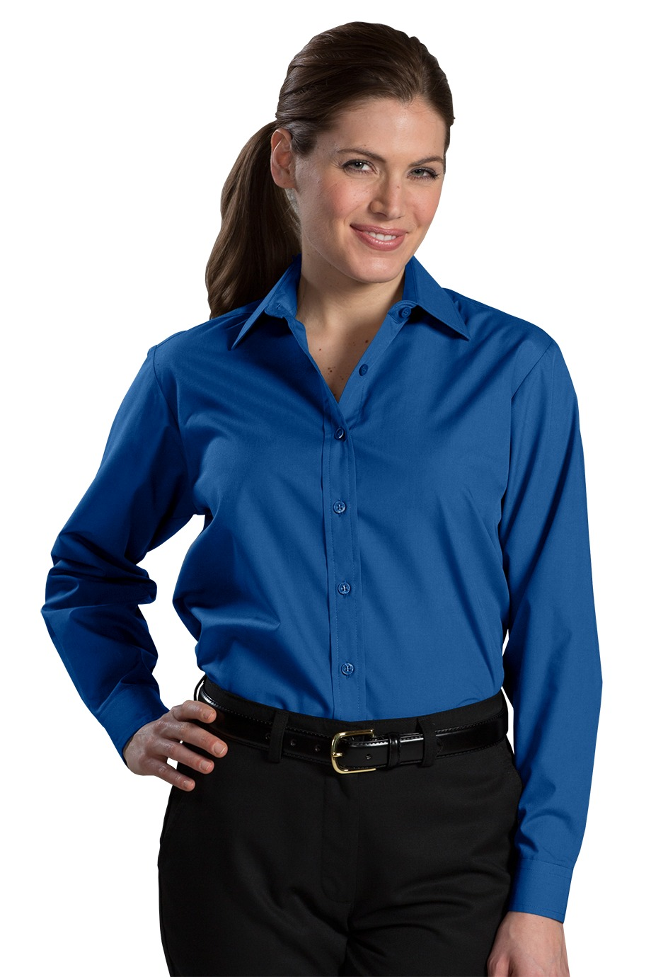 Edwards Garment 5363 - Women's Long Sleeve Value Broadcloth Shirt