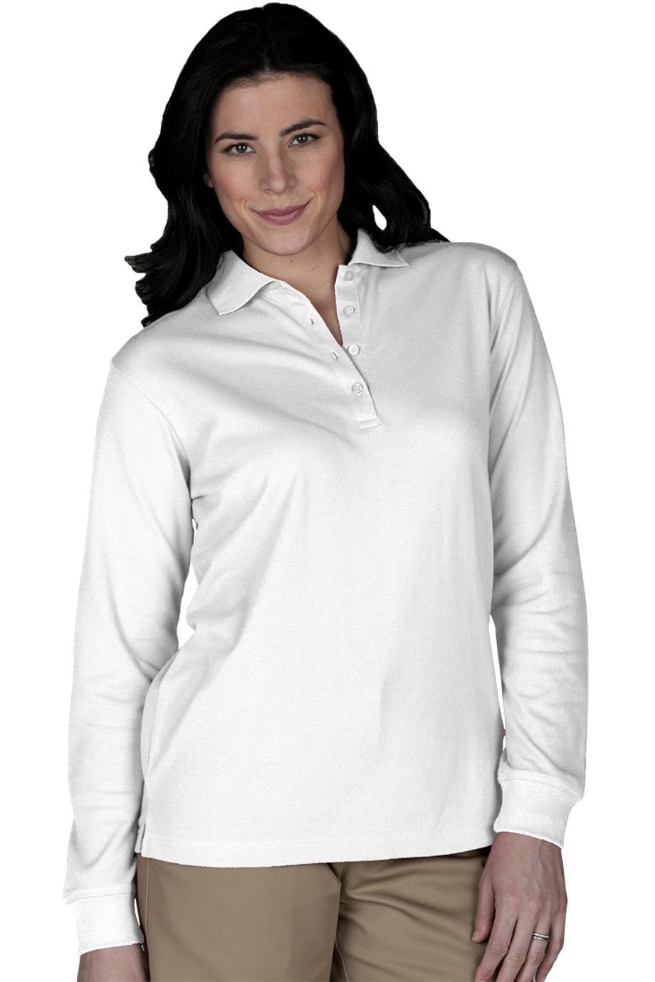 Edwards Garment 5515 - Women's Long Sleeve Pique Polo