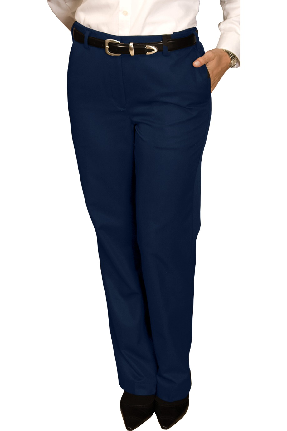 Edwards Garment 8579 - Women's Blended Chino Flat Front Pant