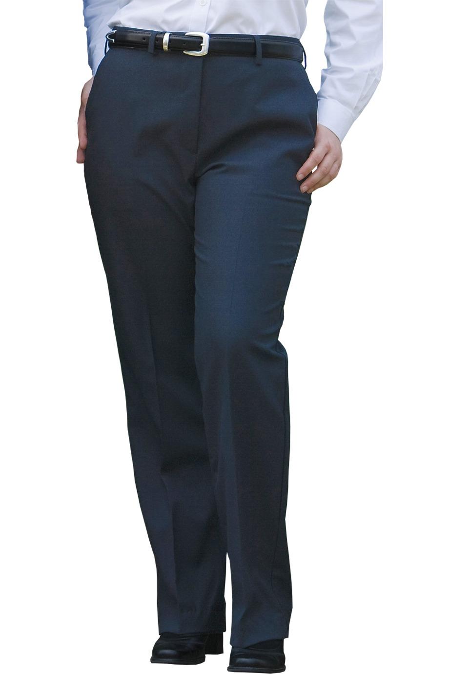 Edwards Garment 8783 - Women's Wool Blend Flat Front Dress Pant