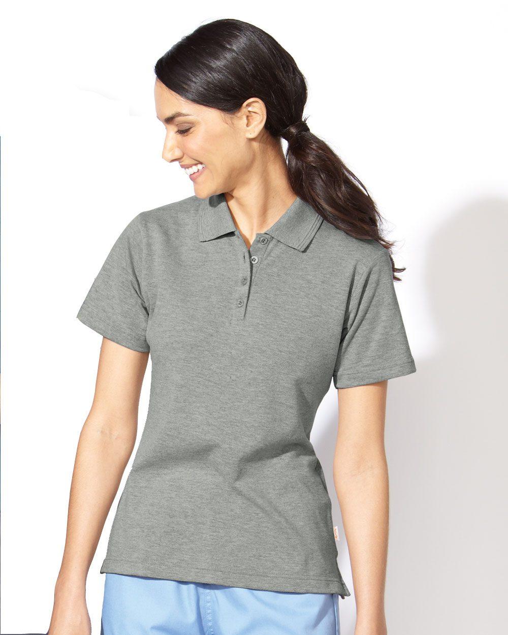 FeatherLite 5330 Ladies' Short Sleeve Platinum Pique Sport Shirt