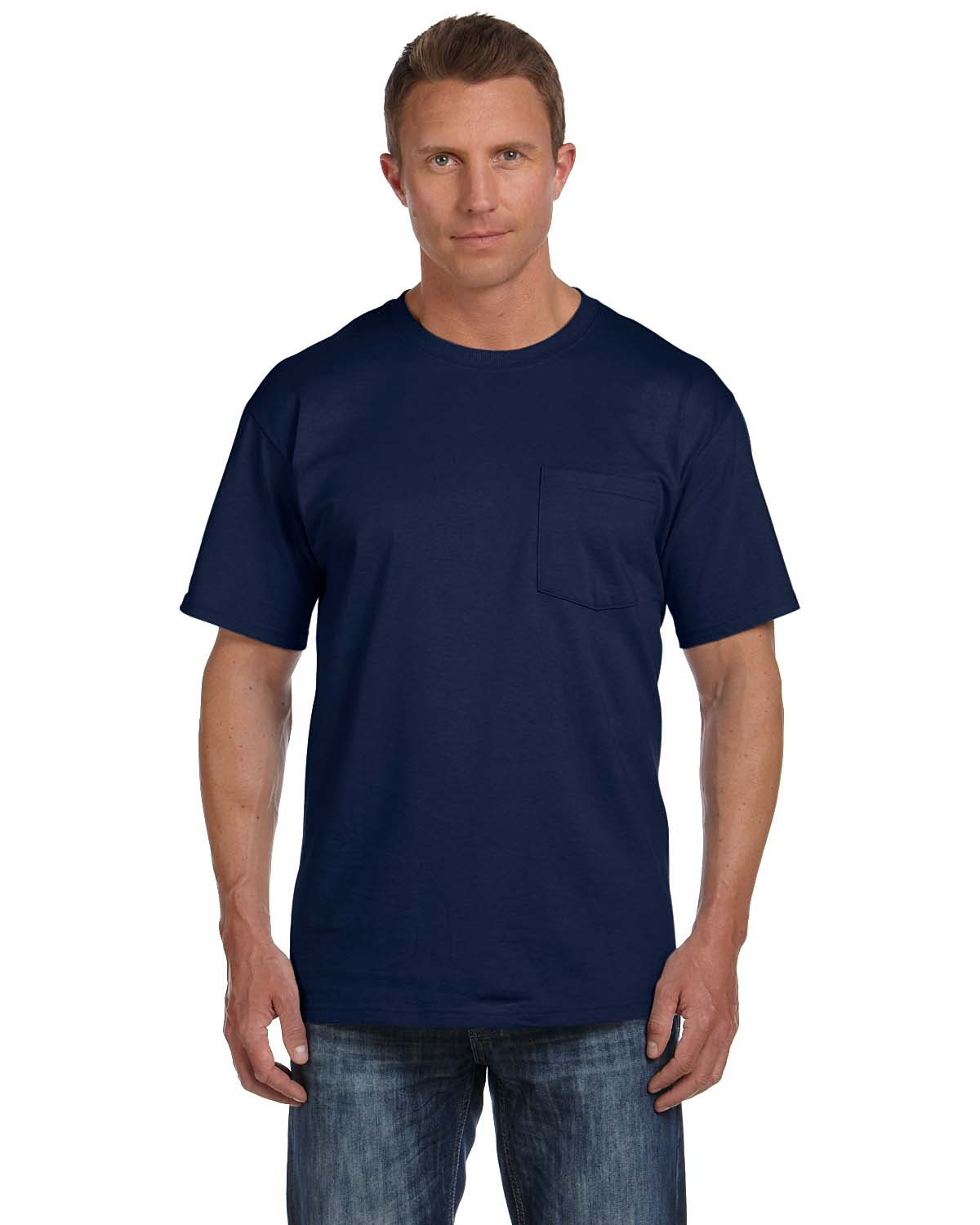 Fruit of the Loom 3931P 5 oz. Heavy Cotton HD Pocket T