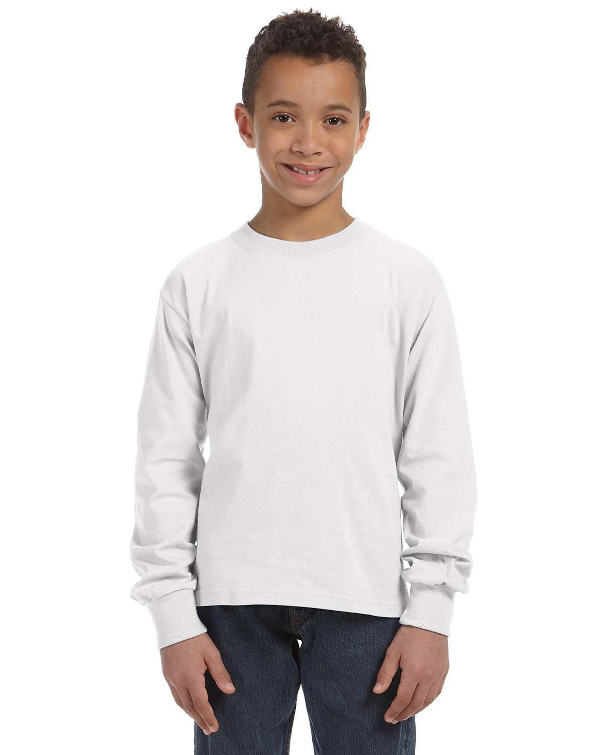 Fruit of the Loom 4930B Youth  5 oz., 100% Heavy Cotton ...