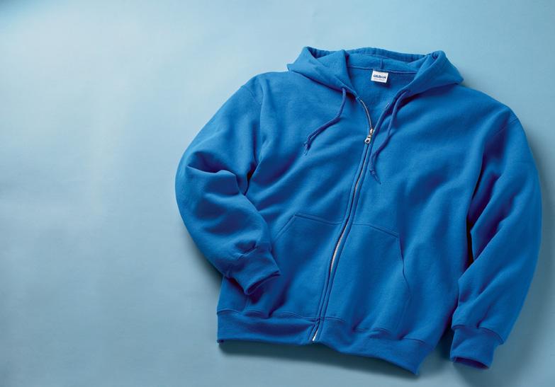 Gildan 12600  Ultra Blend Full Zip Hooded T-shirt.
