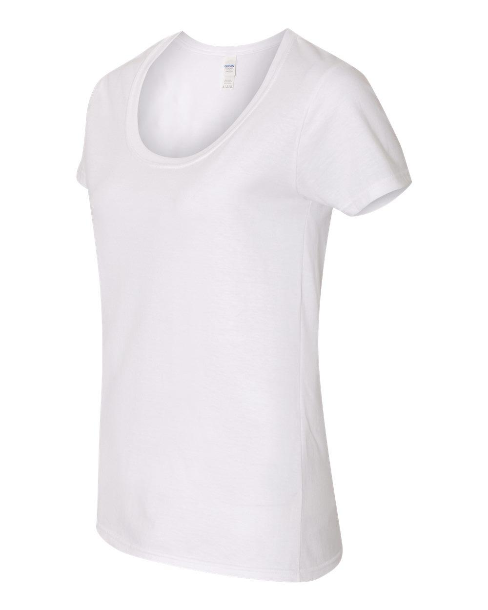 Gildan 64550L - Softstyle Women's Deep Scoopneck T-Shirt