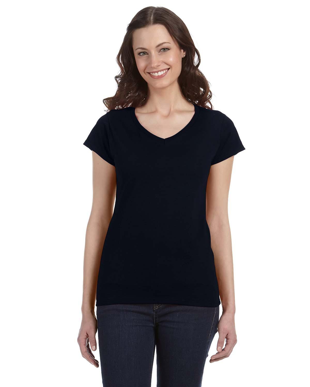 Gildan 64V00L-Softstyle Junior Fit V-Neck T-Shirt