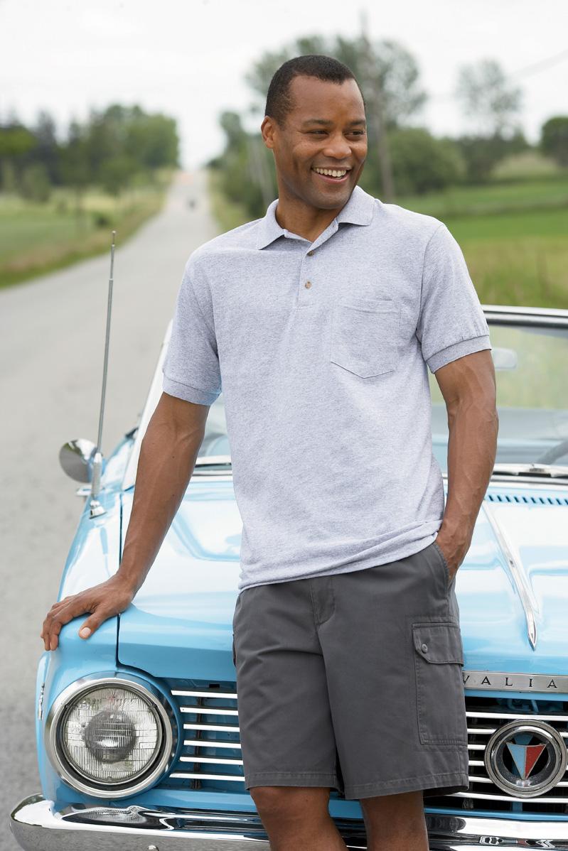 Gildan 8900  Ultra Blend Jersey Sport Shirt with a Pocket