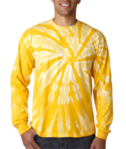 Gildan 89 - Tie-Dye Adult One-Color Long-Sleeve Pinwheel Tee